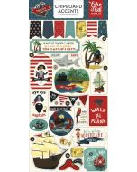 Echo Park Pirate Tales Chipboard Accent Stickers