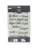 Kelly Creates Quotes 3 Stamp Set