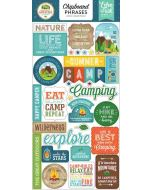 "Summer Adventure 6"" x 13""' Chipboard Phrase Stickers - Lori Whitlock - Echo Park"