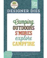 Explore Outdoors Word Die Set - Summer Adventure - Lori Whitlock - Echo Park