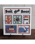 Foundations Decor Sail in the Seas Shadowbox White