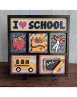 School Shadowbox Foundations Decor