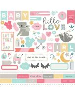Snuggle Up Girl Element Stickers