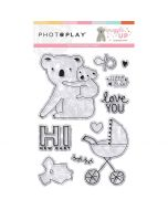 Snuggle Up Girl Stamps