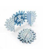 Sizzix Fold a Long Card Snowflake