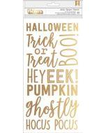 Spooky Boo Gold Foil Phrase Stickers
