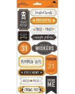 Spooky Boo Phrase Stickers
