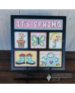 It's Spring Shadowbox Foundations Decor