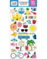 "I Love Summer 6"" x 13"" Chipboard Accent Stickers - Echo Park"