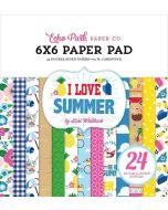 """I Love Summer 6"""" x 6"""" Paper Pad - Echo Park"""