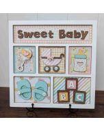 Foundations Decor Sweet Baby Shadowbox