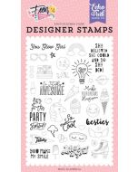 You Glow Girl Stamp Set - Teen Spirit Girl - Echo Park