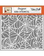 Spooky Spiderweb Stencil - Trick or Treat - Echo Park