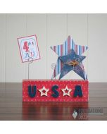 Word Only USA Picture Holder - Foundations Décor