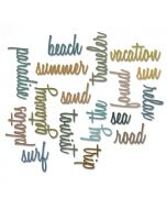 Vacation Script word dies from Sizzix