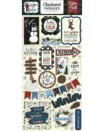 "Warm & Cozy 6"" x 13"" Chipboard Phrase Stickers - Echo Park"