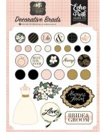 Wedding Day Decorative Brads - Jen Allyson - Echo Park