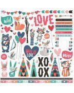 Wild Love Element sticker sheet