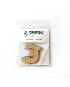 J Set of Wood Letters - Wood Banner - Foundations Decor*