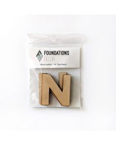N Set of Wood Letters - Wood Banner - Foundations Decor*