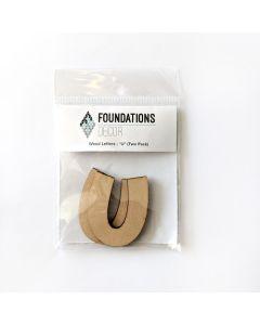 U Set of Wood Letters - Wood Banner - Foundations Decor*