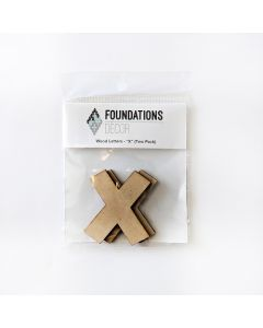 X Set of Wood Letters - Wood Banner - Foundations Decor*