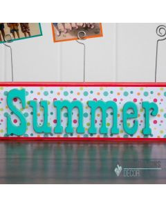 Summer Word Picture Holder - Foundations Decor