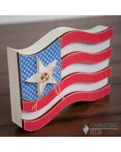 July USA Flag Unfinished Wood Craft - Foundations Décor