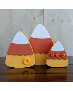 Candy Corn Trio Unfinished Wood Craft - Halloween - Foundations Decor