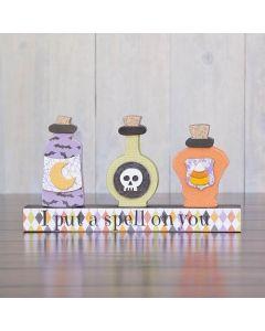 Potion Bottles Unfinished Wood Craft - Halloween - Foundations Decor