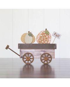 Harvest Wagon Unfinished Wood Craft - Thanksgiving - Foundations Decor