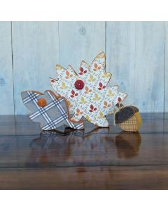 Falling Leaves and Acorn Unfinished Wood Craft - Thanksgiving - Foundations Decor