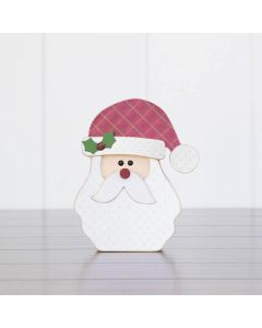 Santa Face Unfinished Wood Craft - Home - Foundations Decor