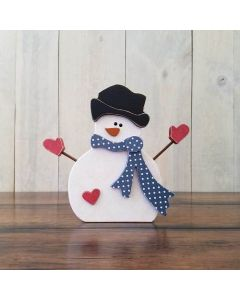 Winter Snowman with Arms Unfinished Wood Craft - Foundations Decor