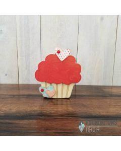 Valentines Cupcake Unfinished Wood Craft - Foundations Decor