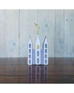 Small Temple w/ Statue Unfinished Wood Craft - Family - Foundations Decor