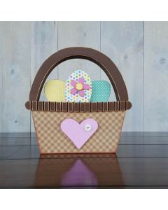 Basket of Eggs Unfinished Wood Craft - Easter - Foundations Decor