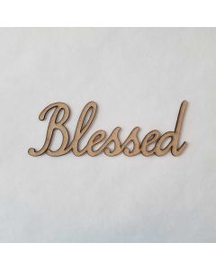 Blessed Smooth Font - Wood Craft - Connected Words - Foundations Decor