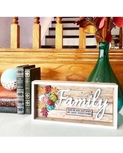 Family Smooth Font - Wood Craft - Connected Words - Foundations Decor*