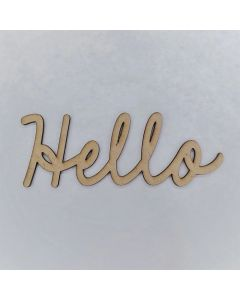 Hello Smooth Font - Wood Craft - Connected Words - Foundations Decor*