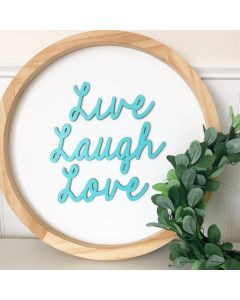 Live, Laugh, Love Smooth Font - Wood Craft - Connected Words - Foundations Decor