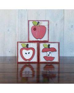 Apple Blocks Unfinished Wood Craft - Autumn - Foundations Decor