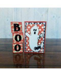 Boo Blocks Unfinished Wood Craft - Halloween - Foundations Decor
