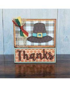 Thanksgiving Blocks Unfinished Wood Craft - Thanksgiving - Foundations Decor