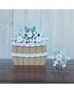 January Snowflakes - Barrel Topper - Foundations Decor*