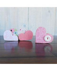 February Hearts - Barrel Topper - Foundations Decor