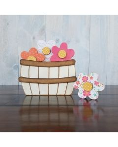 May Flowers - Barrel Topper - Foundations Decor*