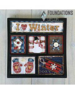 I 'heart' Winter Shadow Box Kit - Foundations Decor