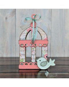 Bird Cage Unfinished Wood Craft - Spring - Foundations Decor