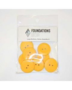Yellow Buttons, Large Set - Foundations Decor